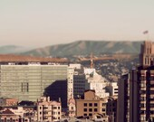Home - Urban Art Print, San Francisco City, Retro Inspired Wall Decor, Tilt Shift Photography