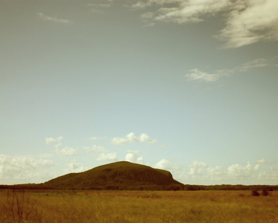 Road Trip - Modern Minimalist, Australian Landscape, Rural Country, Open Spaces, Autumn Orange Brown