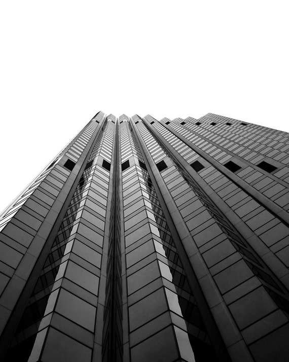 The Ladder - Office Decor, Architecture, Modern Structure, City Building Photo, Black and White Wall Art, Skyscraper