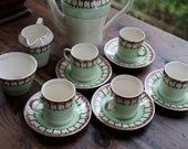 Crownford English fine bone china 12 piece tea/coffee set