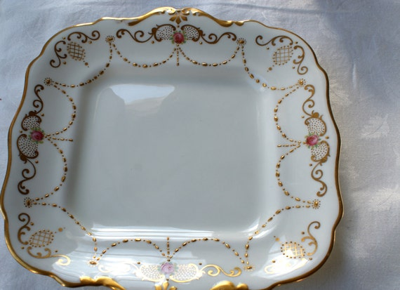 RESERVED FOR X Paragaon english china cake plate