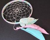 """Dream Catcher- """"Spring""""- pink dream catcher - modern dream catcher - baby dream catcher - nursery decor"""