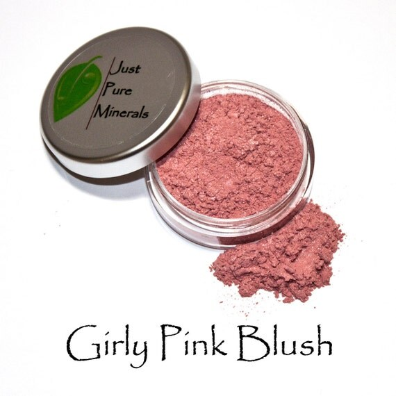 Girly Pink Vegan Blush - Always Vegan and Cruelty-Free - 6g product filling a 20g sifter jar