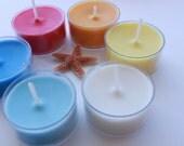 Tropical Soy Tea Light- Blue, White, Yellow, Orange, Red