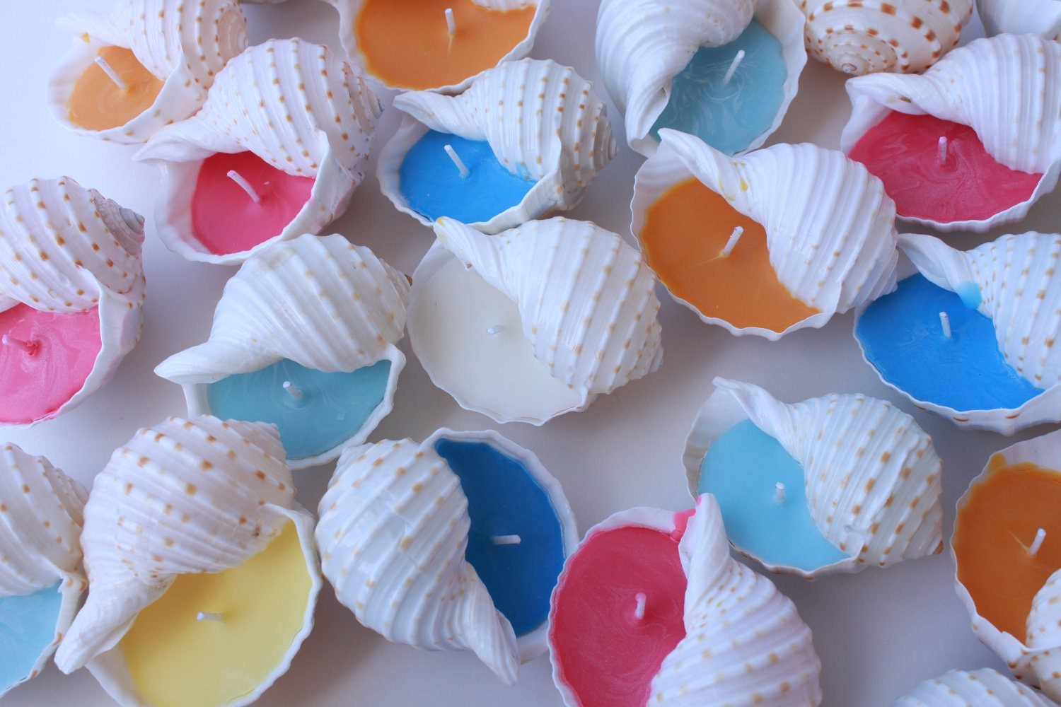 Wedding Gifts And Favors: Beach Wedding Favor-Small Shell Candle