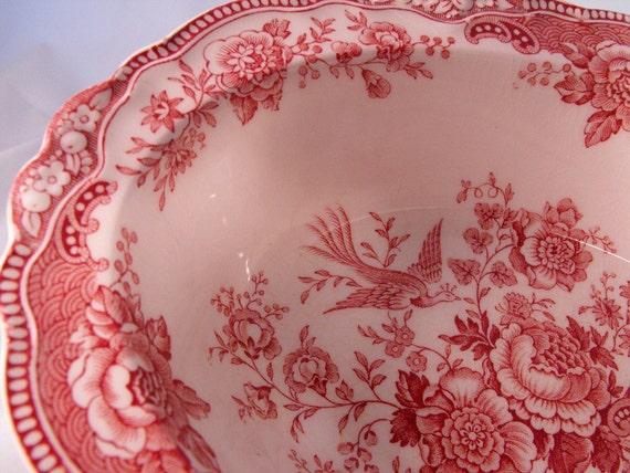 Crown Ducal Staffordshire Transferware Bristol Pink