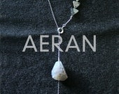 AERAN - agate sterling silver lariat necklace by Balue/Co.