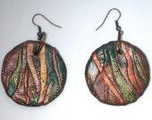 Organic Ocean Earrings series each is OOAK .002