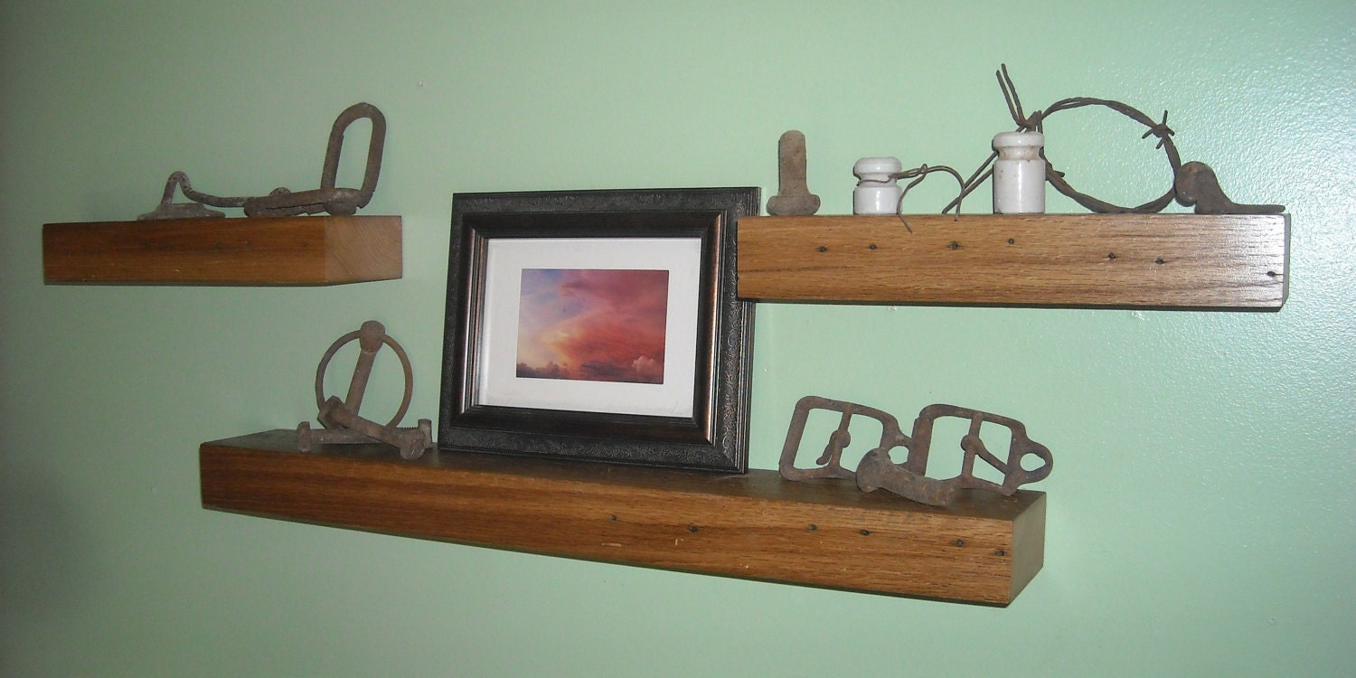 Shelves , Floating Wood Shelves For Kitchen , Reclaimed Wood Shelves