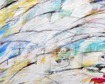 Special 1, 12-6-11, Abstract painting, white, red, yellow, blue, green