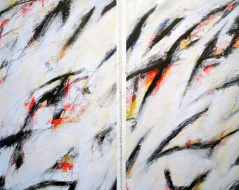 3-1-12 set of two (abstract, black, white, yellow, blue, red)