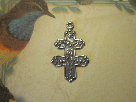 Joan of Arc  Sterling Silver French Cross of Lorraine