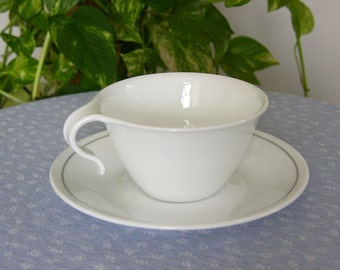 "Vintage 1960's Corelle Livingware By Corning ""Centura"" Cup And Saucer, Made In USA, Home Decor"