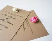 Recycled Kraft  Wedding Ceremony Programs - Rose