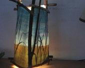 "watercolor paper lamp ""spring grass"""