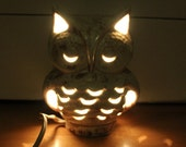 Vintage Owl Lamp Night Light Owl Light CeRAMIC OWL