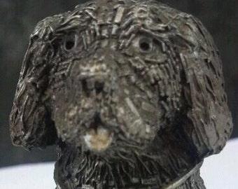 Vintage Pewter St. Bernard Paperweight Dog Lovers Gift Life saving St. Bernard Dog