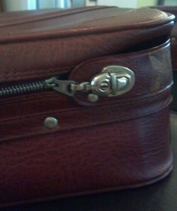 Vintage carry on suitcase luggage