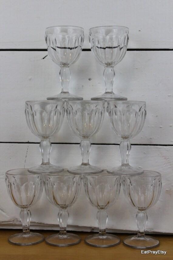 Vintage Cordial Glasses Shot Glasses Set of Nine