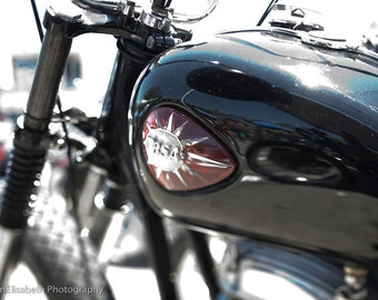 BSA Cafe Racers At Motorcycle Rally, Venice, CA