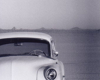 Vintage Car on El Mirage at Sunrise