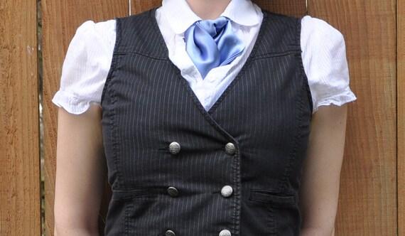 Pale Blue Satin Ascot/Cravat