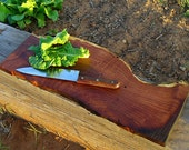 Live Edge Mesquite Serving Board . Ready to Ship