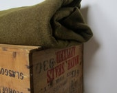 Wool Blanket for Home Camping and Utility Vintage Military Green