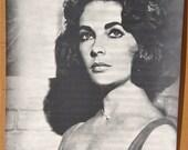 Vintage B&W 1960s  No. 61A Elizabeth 'Liz' Taylor Poster NOS