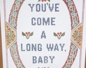 Vtg SMALL 1976 You've Come a Long Way Baby Hippie Poster