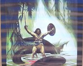Vintage 1976 The Serpent Slayer Colored Fantasy Poster