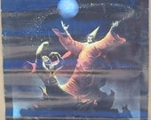 Vintage 1970s All Hallow's Eve Colored Fantasy Poster Art by Ken Kelly