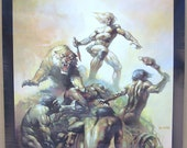 Vintage 1976 Lord of the Savage Land Colored Fantasy Poster Art by Boris Vallejo MATURE