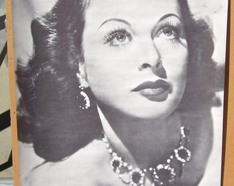 Vintage B&W 1960s Trilby Hedy LaMarr Movie Poster NOS