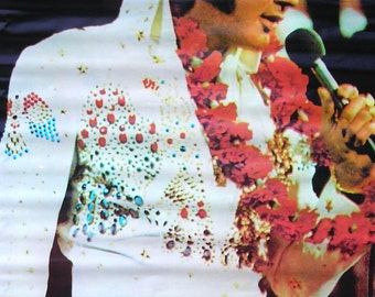 Vintage 1970s Elvis Presley in Las Vegas Music Poster  The King