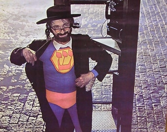 Vtg 1967 Jewish Superman Telephone Booth Hippie Poster