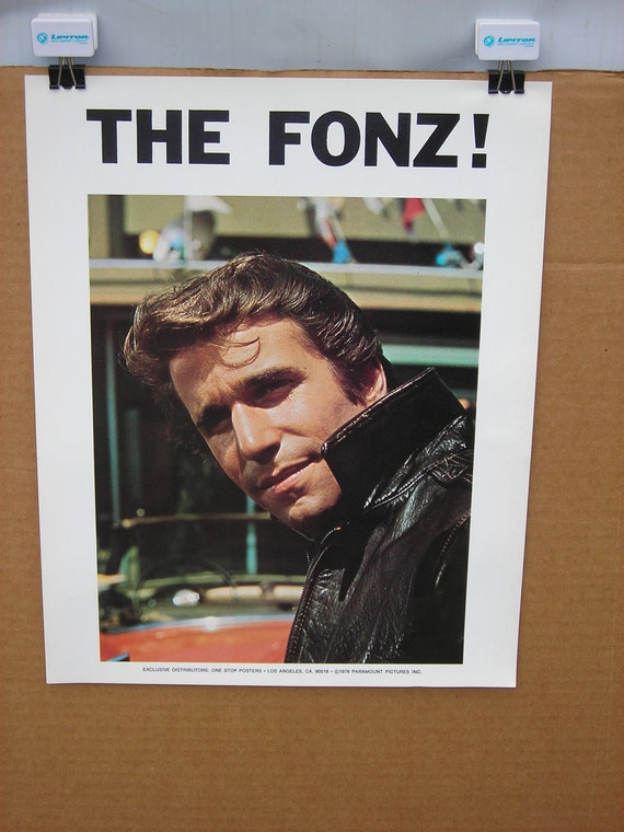 SMALL Vtg 1970s The Fonz Movie Poster Happy Days Fonzie