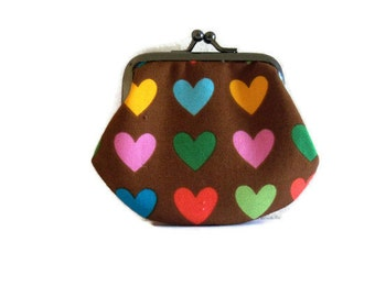 Little Coin Purse - Small Coin Purse - Change Purse - Coin Wallet - Money Pouch - Framed Coin Purse
