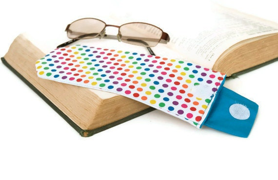 HALF PRICE SALE - Eye Glasses Case with button tab closure