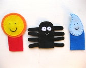 Itsy Bitsy Spider Finger Puppets
