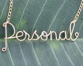 Personalized Gold Wire Name Necklace - Handmade Up To 10 Letters