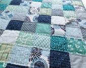 Baby Quilt Blue Quilt Novelty Quilt Crib Quilt Girls Quilt Boys Quilt
