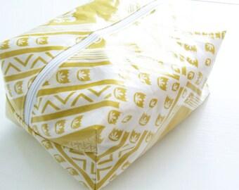 Yellow Waterproof Makeup Bag