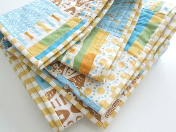 Modern Quilt Baby Quilt Boys Quilt Girls Quilt Baby Bedding Crib Quilt