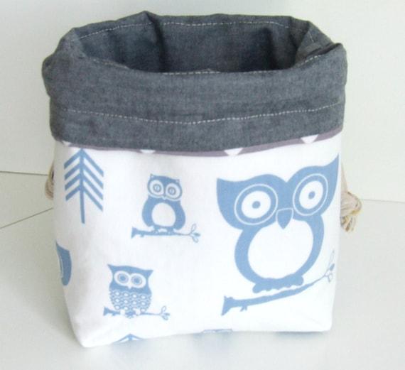 Drawstring Bag - Fabric Basket - Craft Bag