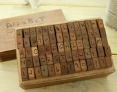 1Sets /70 kinds Korea DIY vintage Cursive Capital/ Lowercase letters/ Numbers /punctuation /stamp set