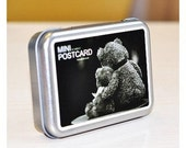 Korea Soulmate Peninsula iron boxes mini card -- Teddy bear