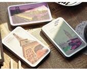 3 Boxs Korea Pretty Sticker Set - Colorful Paper Tape-Love landscape New York/ London/ Paris