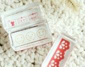 Korea DIY Crystal Square Stamp-Pattern 6 kinds-C