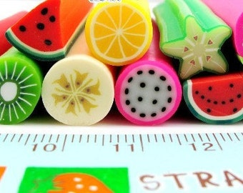 11 Pcs Japanese Big Polymer Clay Cane Miniature Food Decoration and Nail Art